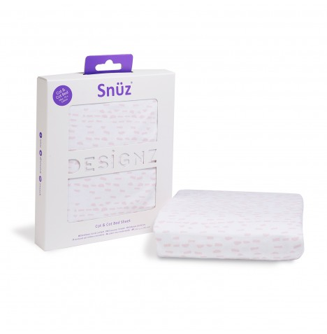 Snuz Cot / Cot Bed Fitted Sheet - Rose Wave Dash