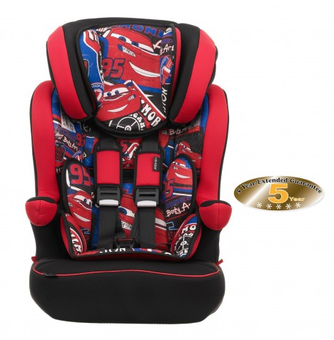 Obaby Disney Group 123 High Back Booster Car Seat - Cars