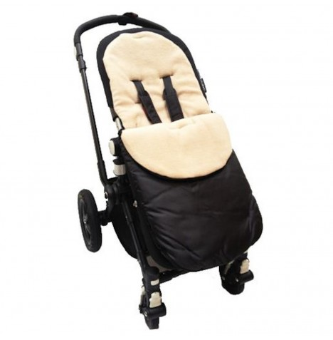 4Baby Shower Proof Fleece Pushchair Footmuff - Beige..