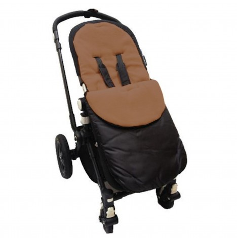 4Baby Shower Proof Fleece Pushchair Footmuff - Brown..