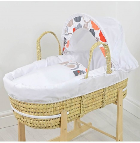 4baby Deluxe Palm Moses Basket - Autumn Owl