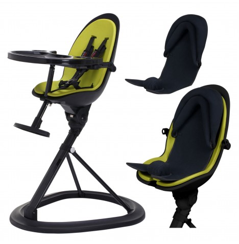 ickle bubba Orb+ Highchair - Black / Green