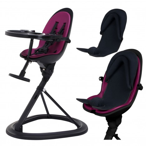 ickle bubba Orb+ Highchair - Black / Purple