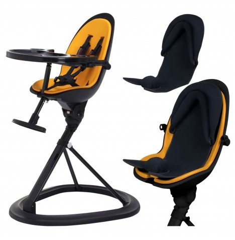 ickle bubba Orb+ Highchair - Black / Yellow