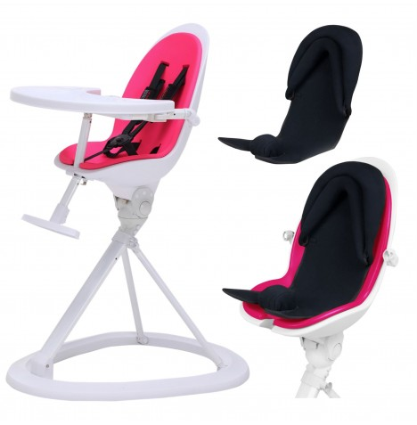 ickle bubba Orb+ Highchair - White / Pink