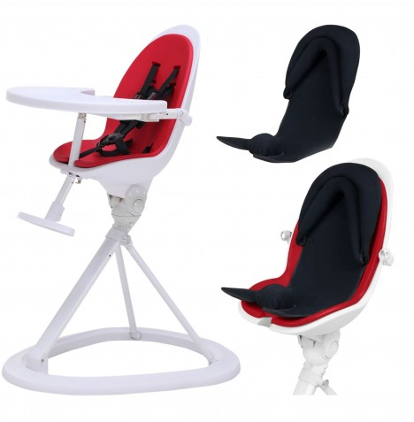 ickle bubba Orb+ Highchair - White / Red