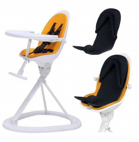 ickle bubba Orb+ Highchair - White / Yellow