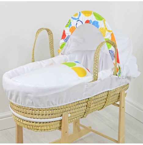 4baby Deluxe Palm Moses Basket - Summer Owl