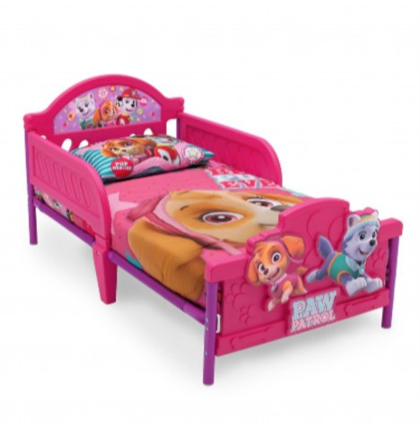 Delta Children Toddler Bed With 3D Footboard - Disney Paw Patrol