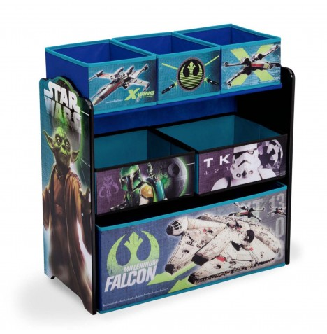 Delta Children Wooden Frame Multi-Bin Toy Organiser - Star Wars