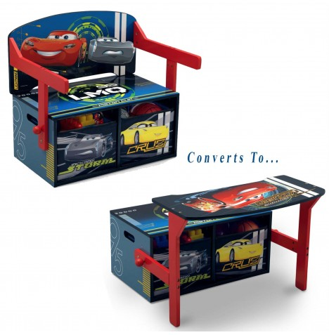 Delta Children 3in1 Convertible Bench / Desk - Cars / CR Legends