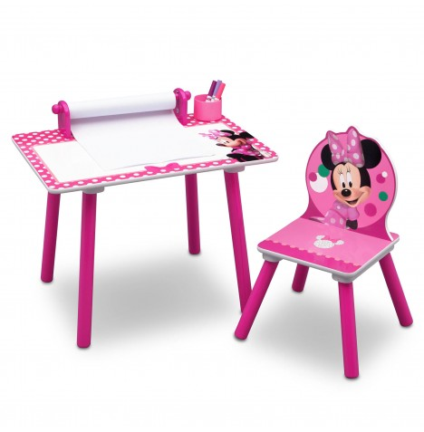 Delta Children Activity Desk & Chair (With Paper Roll) - Minnie Mouse (Dotty)