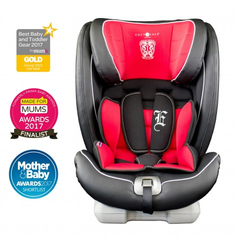 Cozy N Safe Excalibur Group 1/2/3 Isofix Car Seat - Black / Red