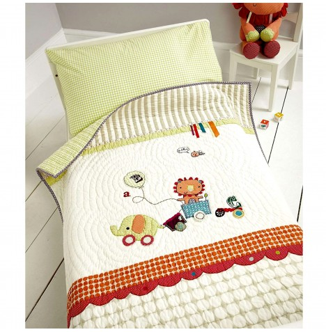 Mamas & Papas Cot / Cot Bed / Toddler Bed Quilt & Pillowcase Set - Jamboree
