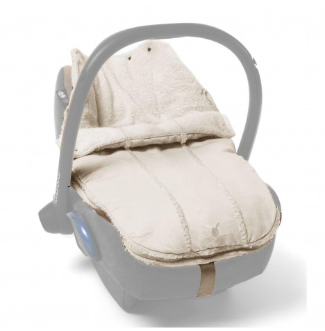 Wallaboo Newborn Car Seat / Pram Footmuff - Ecru