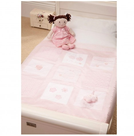 Mamas & Papas Luxury Cot / Cot Bed / Toddler Bed Quilt - Vintage Pink