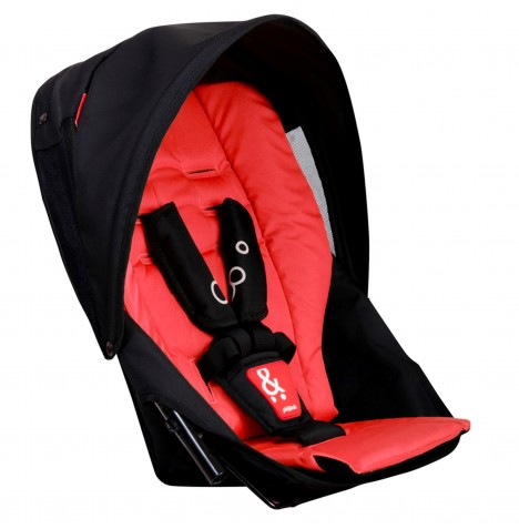 Phil & Teds Dot 2.0 Double Kit / Second Seat - Red
