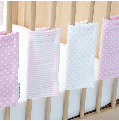 Hippychick Bumpsters Cot / Cot Bed Bar Bumpers (6 Pack) Large - Pink