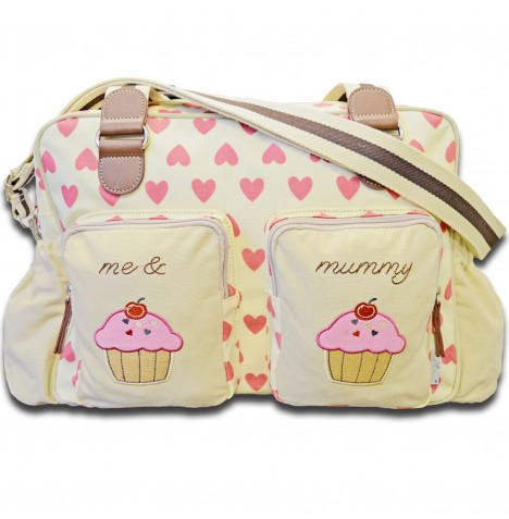 4baby Designer Fashion Baby Changing Bag - Me & Mummy Pink