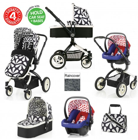 Cosatto Ooba 3 in 1 Travel System - Charleston / Apple Seed