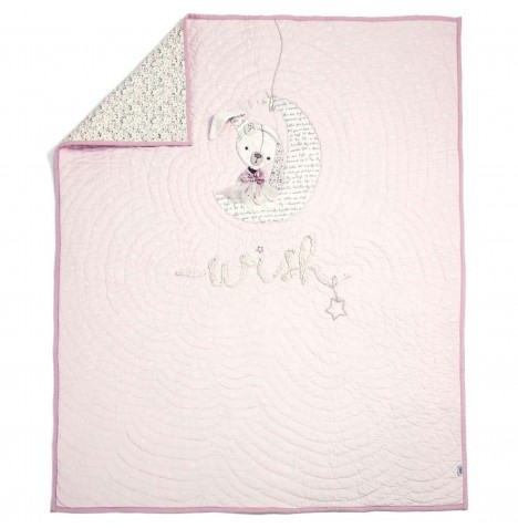 Mamas & Papas Luxury Cot / Cot Bed / Toddler Bed Quilt - Millie & Boris (Girls)