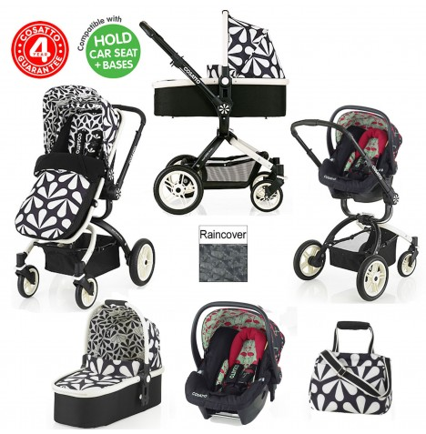 Cosatto Ooba 3 in 1 Travel System - Charleston / Flamingo Fling