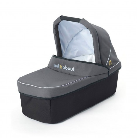 Out N About Nipper Single Carrycot - Steel Grey