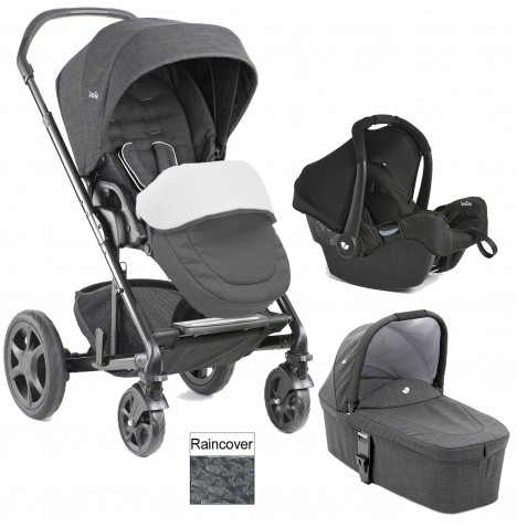 Joie Chrome DLX (Gemm) Travel System + Carrycot (inc Footmuff) - Pavement