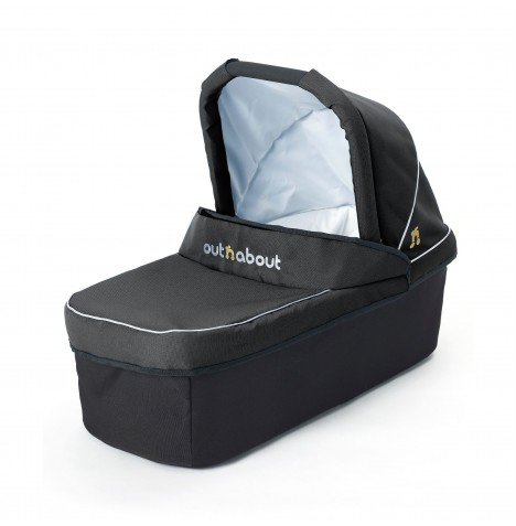 Out N About Nipper Double Carrycot - Raven Black