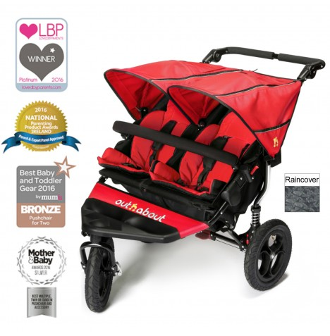 Out N About Nipper Double Pushchair - Carnival Red