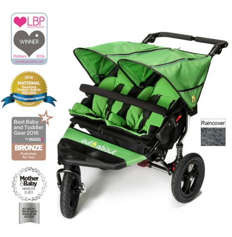 Out N About Nipper Double Pushchair - Mojito Green
