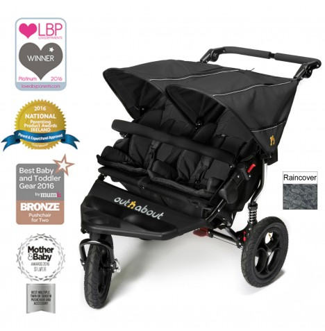 Out N About Nipper Double Pushchair - Raven Black