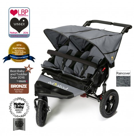 Out N About Nipper Double Pushchair - Steel Grey