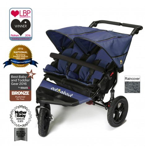 Out N About Nipper Double Pushchair - Royal Navy
