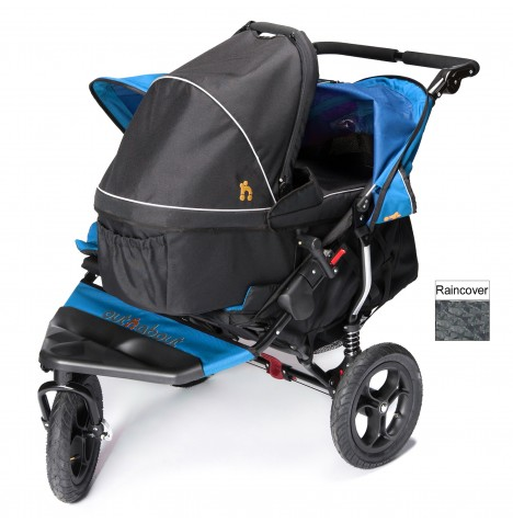 Out N About Nipper Double Pushchair & Carrycot - Lagoon Blue