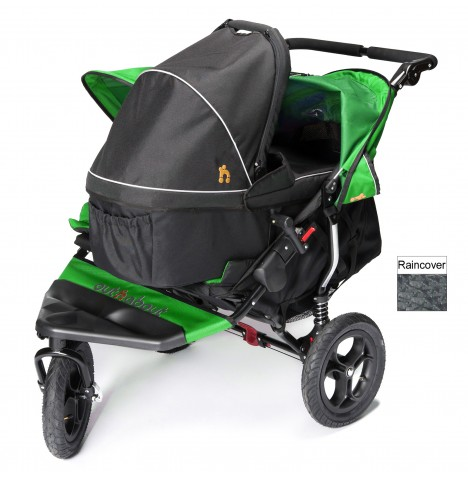 Out N About Nipper Double Pushchair & Carrycot - Mojito Green