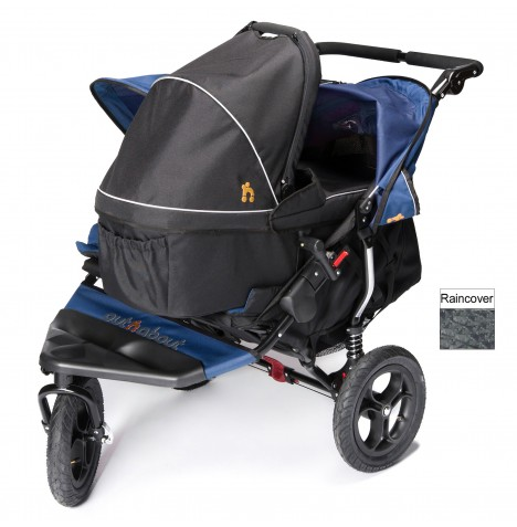 Out N About Nipper Double Pushchair & Carrycot - Royal Navy