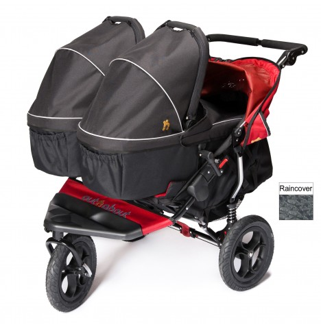 Out N About Nipper Double Pushchair & x2 Carrycots - Carnival Red