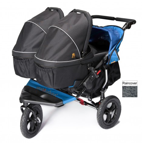 Out N About Nipper Double Pushchair & x2 Carrycots - Lagoon Blue
