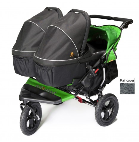 Out N About Nipper Double Pushchair & x2 Carrycots - Mojito Green