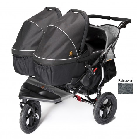 Out N About Nipper Double Pushchair & x2 Carrycots - Steel Grey