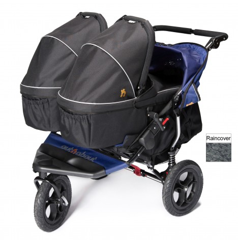 Out N About Nipper Double Pushchair & x2 Carrycots - Royal Navy