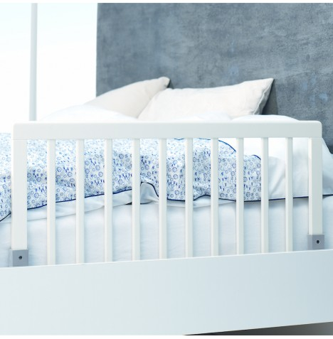 Babydan Wooden Bedrail Bed Guard - White
