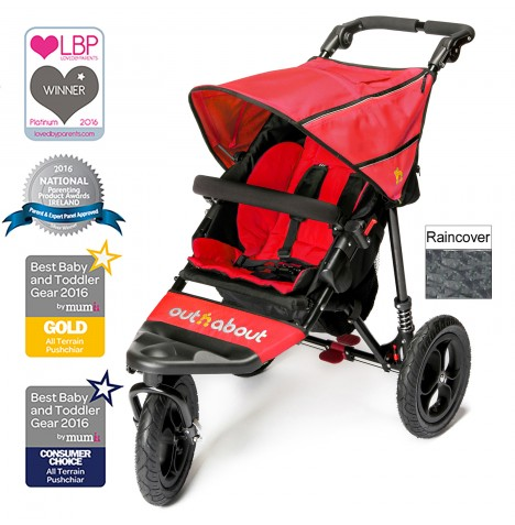Out n About Nipper Single Pushchair - Carnival Red