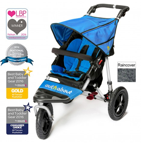 Out n About Nipper Single Pushchair - Lagoon Blue