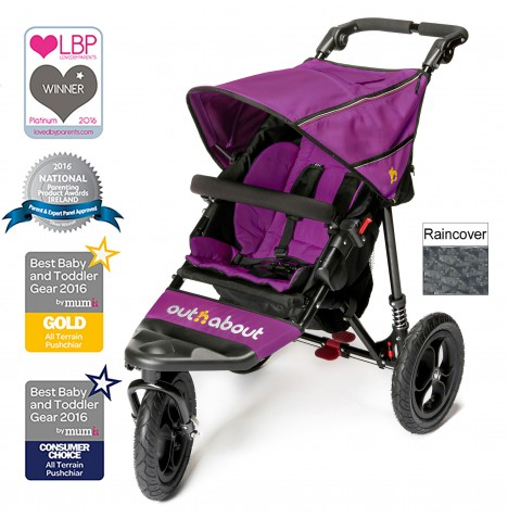 Out n About Nipper Single Pushchair - Purple Punch