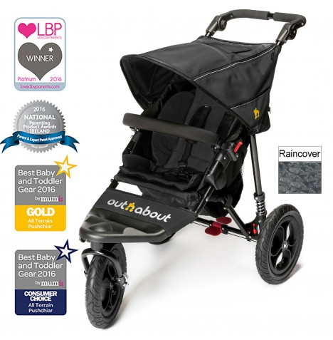 Out n About Nipper Single Pushchair - Raven Black