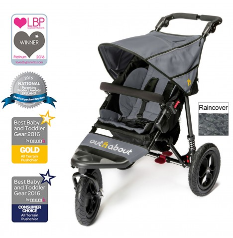 Out n About Nipper Single Pushchair - Steel Grey