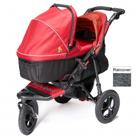 Out n About Nipper Single Pushchair & Carrycot - Carnival Red