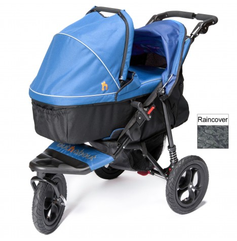 Out n About Nipper Single Pushchair & Carrycot - Lagoon Blue
